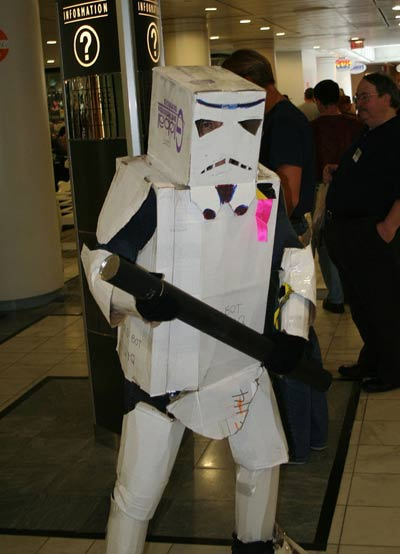 Storm Trooper Costume made of cardboard