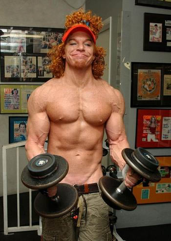 carrot top shirtless